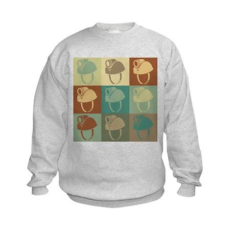 Caving Pop Art Kids Sweatshirt