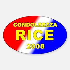 Condoleezza Rice, President, 2008, Oval Decal