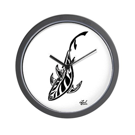 Tribal Shark Wall Clock