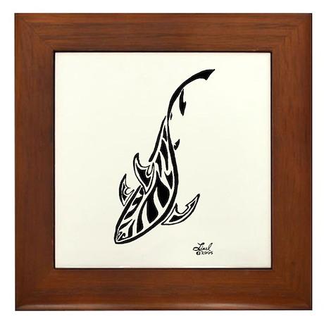 Tribal Shark Framed Tile