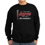 Degrees / Thermometer Sweatshirt (dark)