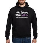 Keep Opening Mouth Hoodie (dark)