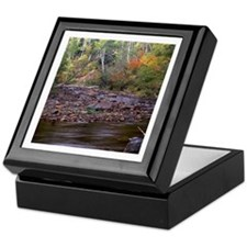 Caribou River In Autum Keepsake Box