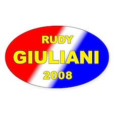 Rudy Giuliani, President, 2008, Oval Decal
