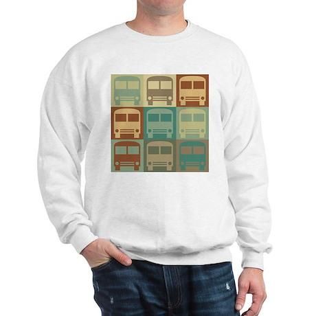 Bus Driving Pop Art Sweatshirt