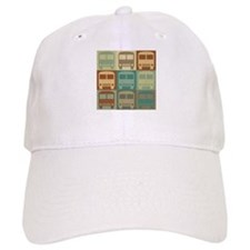 Bus Driving Pop Art Baseball Cap