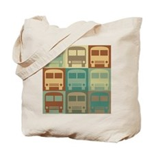Bus Driving Pop Art Tote Bag