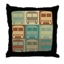 Bus Driving Pop Art Throw Pillow