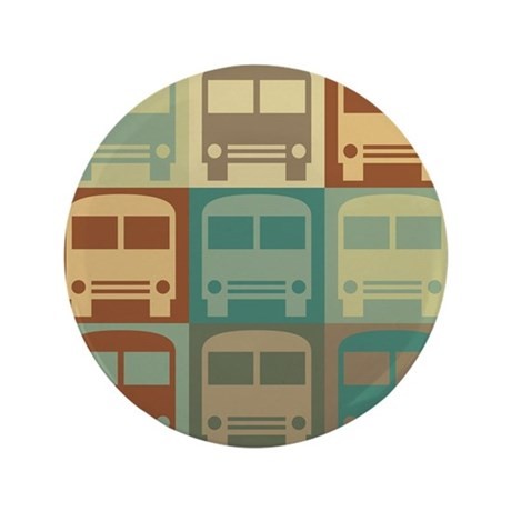 "Bus Driving Pop Art 3.5"" Button"