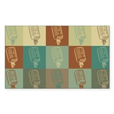 Broadcasting Pop Art Rectangle Decal