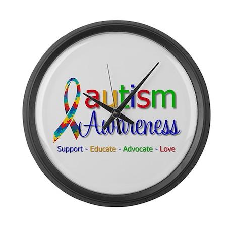 Autism Awareness Large Wall Clock