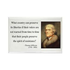 Thomas Jefferson 25 Rectangle Magnet