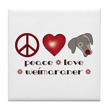 Peace-Joy-Weim Tile Coaster