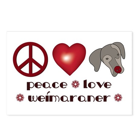 Peace-Joy-Weim Postcards (Package of 8)