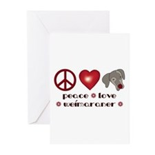 Peace-Joy-Weim Greeting Cards (Pk of 10)