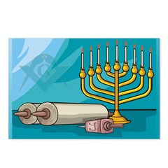 Masonic Chanukkah Postcards (Package of 8)