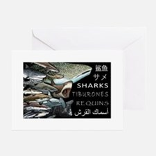sharks of the world Greeting Card