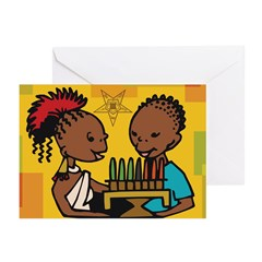 OES Kwanzaa time Greeting Cards (Pk of 20)