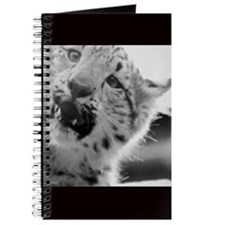Snow Leopard Cub Journal, Black Border