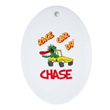 Chase Race Car Driver Oval Ornament