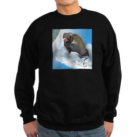 Angel Dachshund Dogs Sweatshirt (dark)