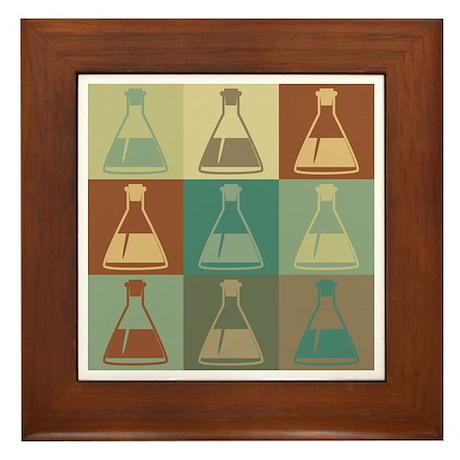 Biology Pop Art Framed Tile