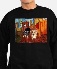 Double Dachshunds Van Gogh Sweatshirt