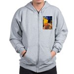 Cafe - Airedale (S) Zip Hoodie