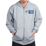 Hit Hard, Run Fast, Turn Left Zip Hoodie