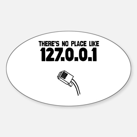 127.0.0.1 Oval Decal
