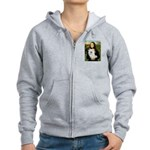 MonaLisa-AmEskimoDog Women's Zip Hoodie