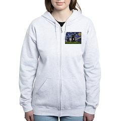 Starry-Am.Staffordshire (blk) Zip Hoodie