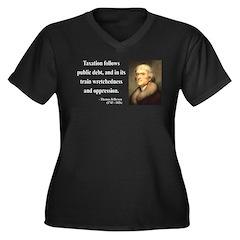 Thomas Jefferson 26 Women's Plus Size V-Neck Dark