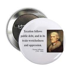 """Thomas Jefferson 26 2.25"""" Button"""