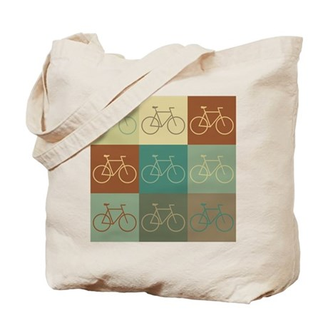 Bicycling Pop Art Tote Bag