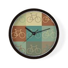 Bicycling Pop Art Wall Clock