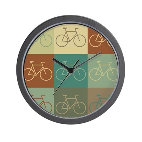 Bicycling Pop Art Wall Clock