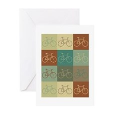 Bicycling Pop Art Greeting Card