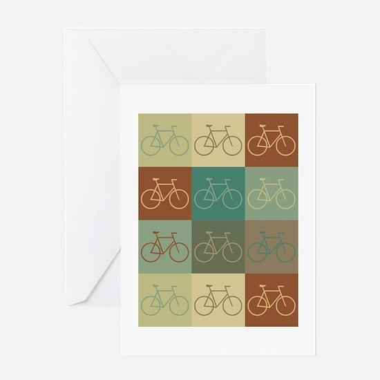 Bicycling Pop Art Greeting Card