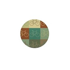 Bicycling Pop Art Mini Button (10 pack)