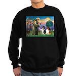 St Francis / Collie Pair Sweatshirt (dark)