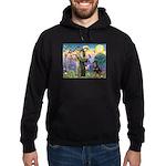 St Francis / Rottweiler Hoodie (dark)