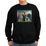 St Francis & Schnauzer (#5) Sweatshirt (dark)