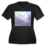 Hope, a Wild Ride - Women's Plus Size V-Neck Dark