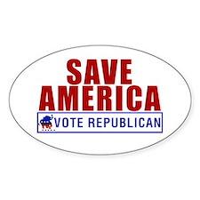 Save America Vote Republican Oval Decal