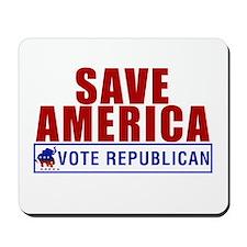 Save America Vote Republican Mousepad