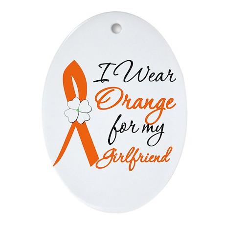 I Wear Orange For My Girl Friend Oval Ornament