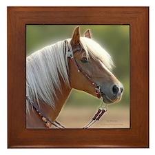 Haflinger Horse Framed Tile
