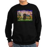 Autumn Angel & Affenpinscher Sweatshirt (dark)