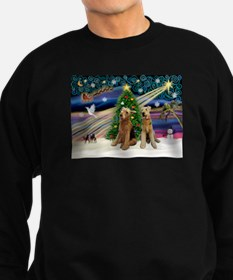 Xmas Magic-Airedale Pair Sweatshirt